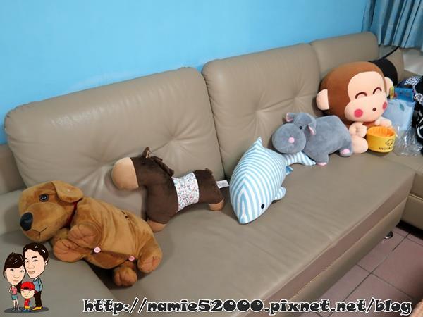 后记:可爱的动物造型抱枕除了可以当作抱枕&靠垫之外,也能拿来装饰