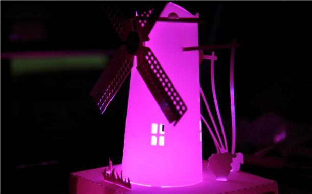 纸雕设计~荷兰风车造型图片